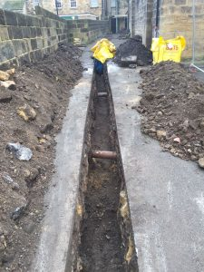 Trench for electrics